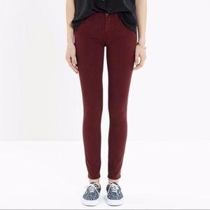 Madewell skinny skinny sateen jeans